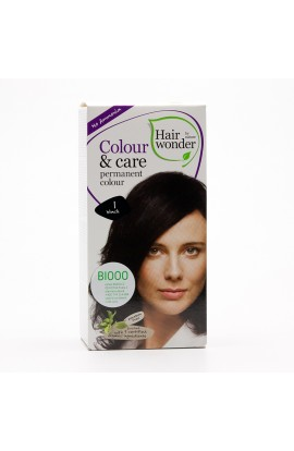 HAIRWONDER, LONG LASTING COLOUR BLACK 1, 100ML