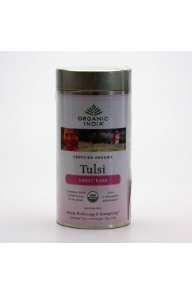 ORGANIC INDIA, TULSI CHAI SWEET ROSE, 100 G