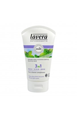 LAVERA, 3 IN 1 CLEANSING & SCRUB & MASK, FACES, 125 ML