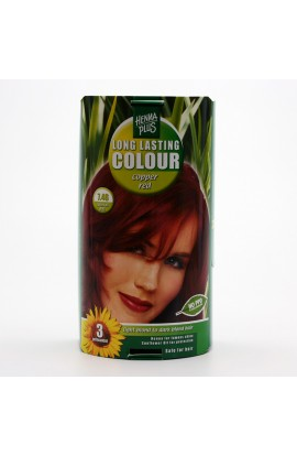 HENNA PLUS, LONG-LASTING COLOR COPPER RED 7.46, 100 ML