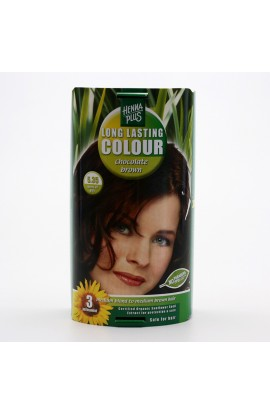 HENNA PLUS, LONG-LASTING COLOR CHOCOLATE BROWN 5.35, 100 ML