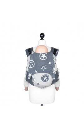 FIDELLA, Baby CARRIER ON your BACK ONBUHIMO, OUTER SPACE (Raw Denim-Soy), 1 PCS