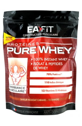 Eafit, Pure Whey Muscle Growth Nougat Caramel 400 g