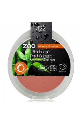 ZAO, BLUSH 322 BROWN PINK, 9 G