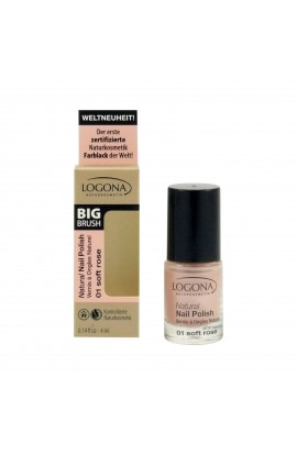 LOGONA, NAIL POLISH 01 SOFT ROSE, 4 ML