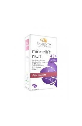 Biocyte Microlift Night Regenerated Skin 45+ Mature Skin 60 Tablets