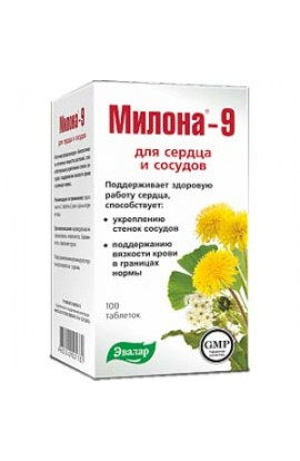 Evalar Milona-9 for the heart and blood vessels 100 tablets