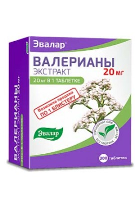 Evalar Valerian extract 300 tablets
