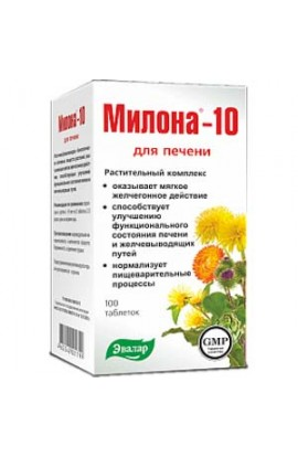 Evalar Milona-10 for the liver 100 tablets