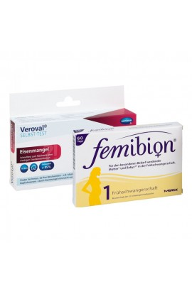 Femibion Pregnancy 1 & Veroval Iron Deficiency Test (1 pck)