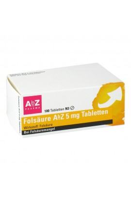 AbZ Pharma Folic acid Abz 5 mg tablets (100 pcs)