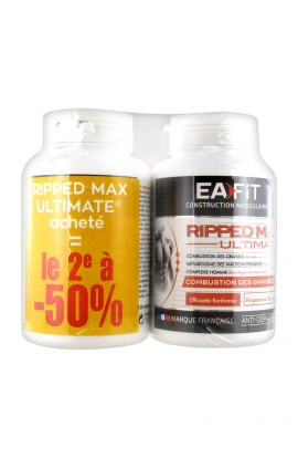 Eafit Muscle Builder Ripped Max Ultimate Fat Burning Lot of 2 x 120 Tablets