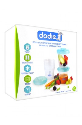Dodie Hermetic storage jars 6 glasses à 200 ml