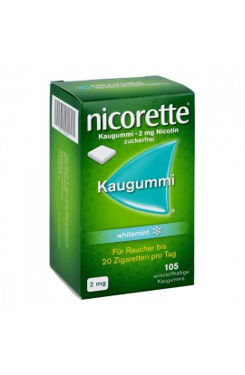 Nicorette 2mg whitemint (105 pcs)