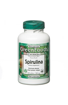 Swanson Spirulina 500 mg, 180 tablets