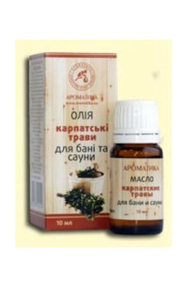 Aromatics Essential oil for bath and sauna Carpathian herbs 10 ml