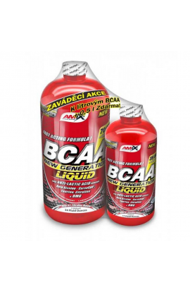 AMIX BCAA New Generation 1000 ml + 500 ml, red raspberry