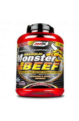 AMIX Anabolic Monster Beef 90% Protein 2200 g, strawberry-banana