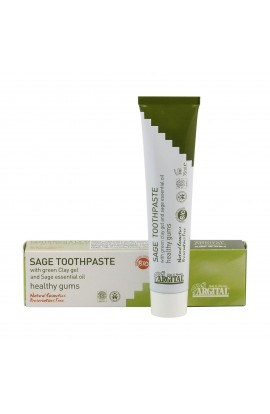 ARGITAL, TOOTHPASTE WITH SAGE AND GREEN CLAY, 75 ML