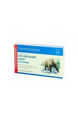 Sustamed Bear oil enriched with 120 capsules of 0.3 grams.