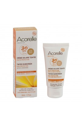 ACORELLE, TONING SUNSCREEN FOR FACE SPF 30 APRICOT, 50 ML