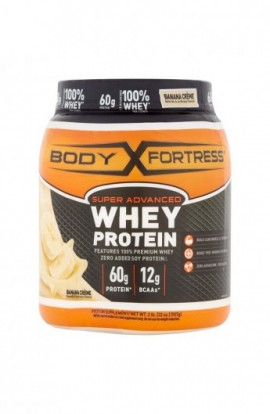 Body Fortress Super Advanced Whey Protein Powder, Banana Cr?me, 2 pounds Banana Cr?me...