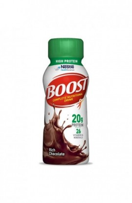 Boost High Protein Complete Nutritional Drink, Rich Chocolate, 8 fl oz Bottle, 24 Pack