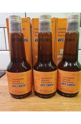 3 X APETAMIN VITAMIN SYRUP 200ml Brand New In Box 3 BOXES APETAMIN VITAMIN SYRUP