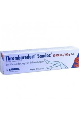 HEXAL, Thrombareduct Sandoz 60 000 I.E. Gel, 40 g