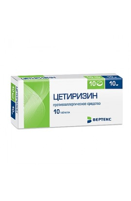 Vertex Cetirizine tablets 10 mg, 10 pcs.