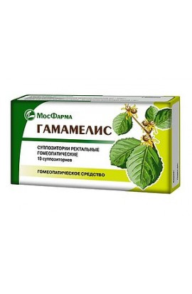 Moscow factory of witch hazel, candle rectal homeopathic, 10 pcs.
