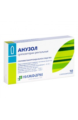 Nizhpharm Anuzol, rectal suppositories 10 pcs.