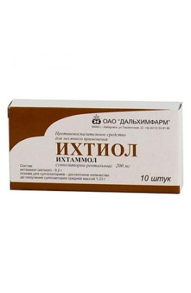 Dalkhimpharm Ichthyol, rectal suppositories 10 pcs.