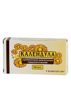 Moscow pharmaceutical factory Calendula, rectal homeopathic suppositories 10 pcs.