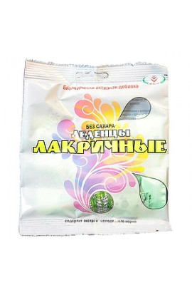Volcano Lacrimony Candies licorice from a cough, without sugar, 30 g