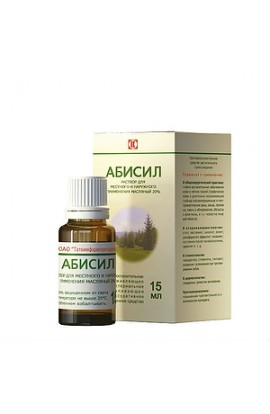 Tathimpharms Abisil, an oil solution of 20%, 15 ml