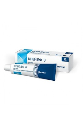 Vertex Adhesive for external use of alcohol BF-6, 15 g