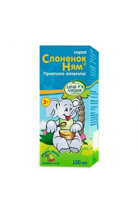 Alcoi LLC Elephant Baby, syrup for children from 3 years old 100 ml bottle