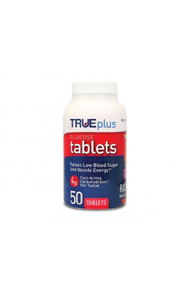 Triveda healt, True plus Glucose Tablet rapsbery,  50 tab
