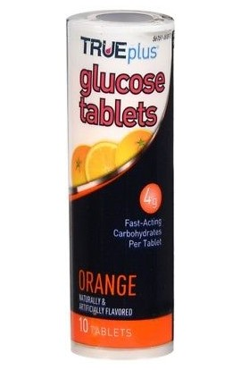 Triveda healt, True plus Glucose Tablet Orange, 10 tab