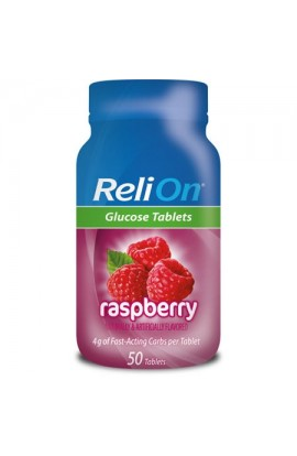 ReliOn,Raspberry Glucose Tablets, 50 tab