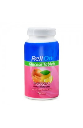 ReliOn,Fruit Punch Glucose Tablets,50 tab