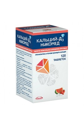 Takeda Pharmaceuticals Ltd. Calcium-D3 Nycomed tablets chewing strawberry-watermelon, 120 pcs.