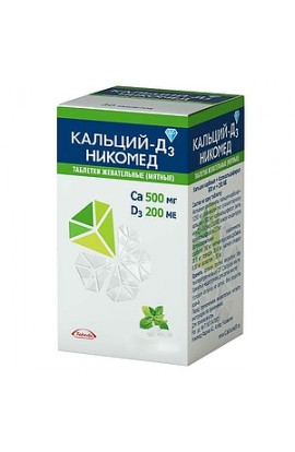 Takeda Pharmaceuticals Ltd. Calcium-D3 Nycomed tablets chewing mint, 60 pcs.