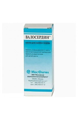 Moscow Pharmaceutical Factory Valoserdin, drops for ingestion, 15 ml