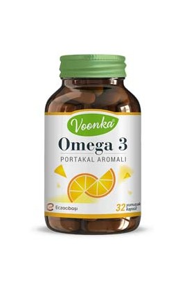 Voonka, Omega-3 Orange flavored 32 capsules