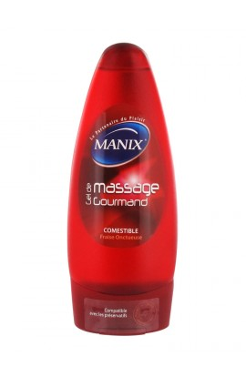 Manix edible creamy massage gel strawberry 200 ml