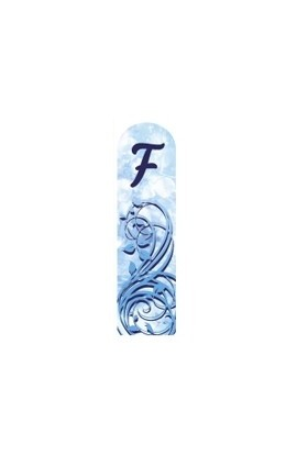 Fulgent World, Nail file, 3D Letter Collection, 3DABC-F