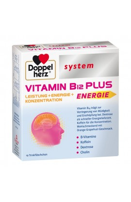 Double heart Vitamin B12 Plus system drinking ampoules (10X25 ml)