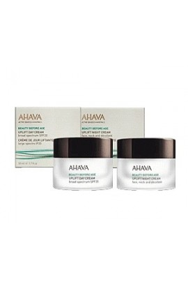 Ahava Uplift Set Lifting Day Cream SPF20 and Lifting Night Cream for Face, Neck and Décollette